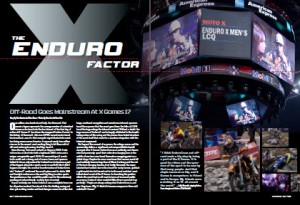 Dirt Rider magazine, December 2011; article on the EnduroCross at the X Games