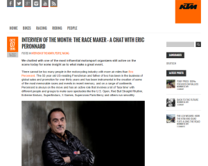 KTM Blog interview - Eric Peronnard